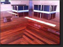 Jarrah Timber Floor - Gloss Finish